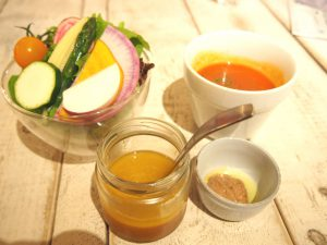 Salad Parfait, Bagna càuda, Dressing, Tomato Soup