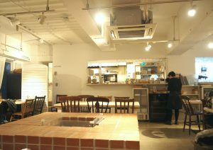 Atmosphere of inside and Kitchen in the back