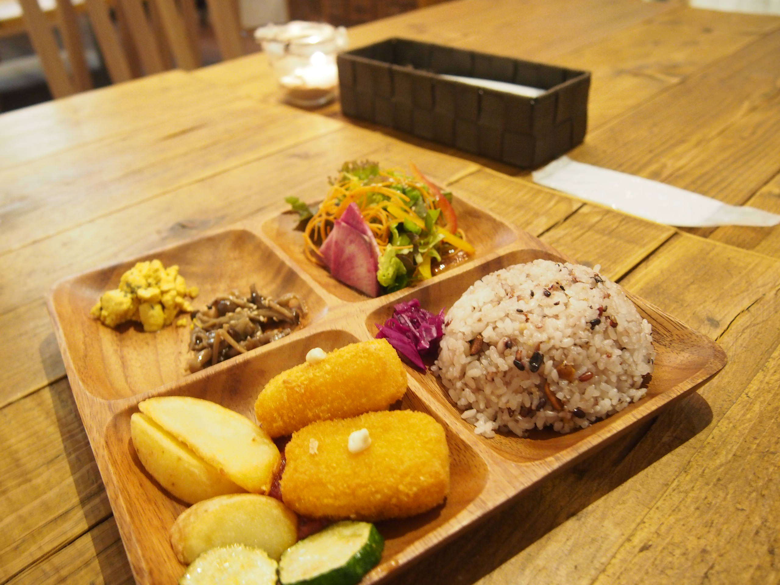 soy croquette plate of UMI CAFE
