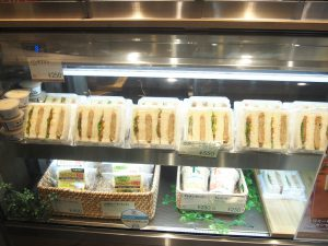 Vegan Sandwiches in showcase