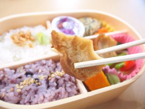 Fried Wheat Gluten of Saishoku Bento (Vegetable Bento)