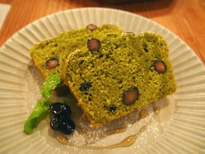 Okara Cake of Black Soy Beans and Matcha