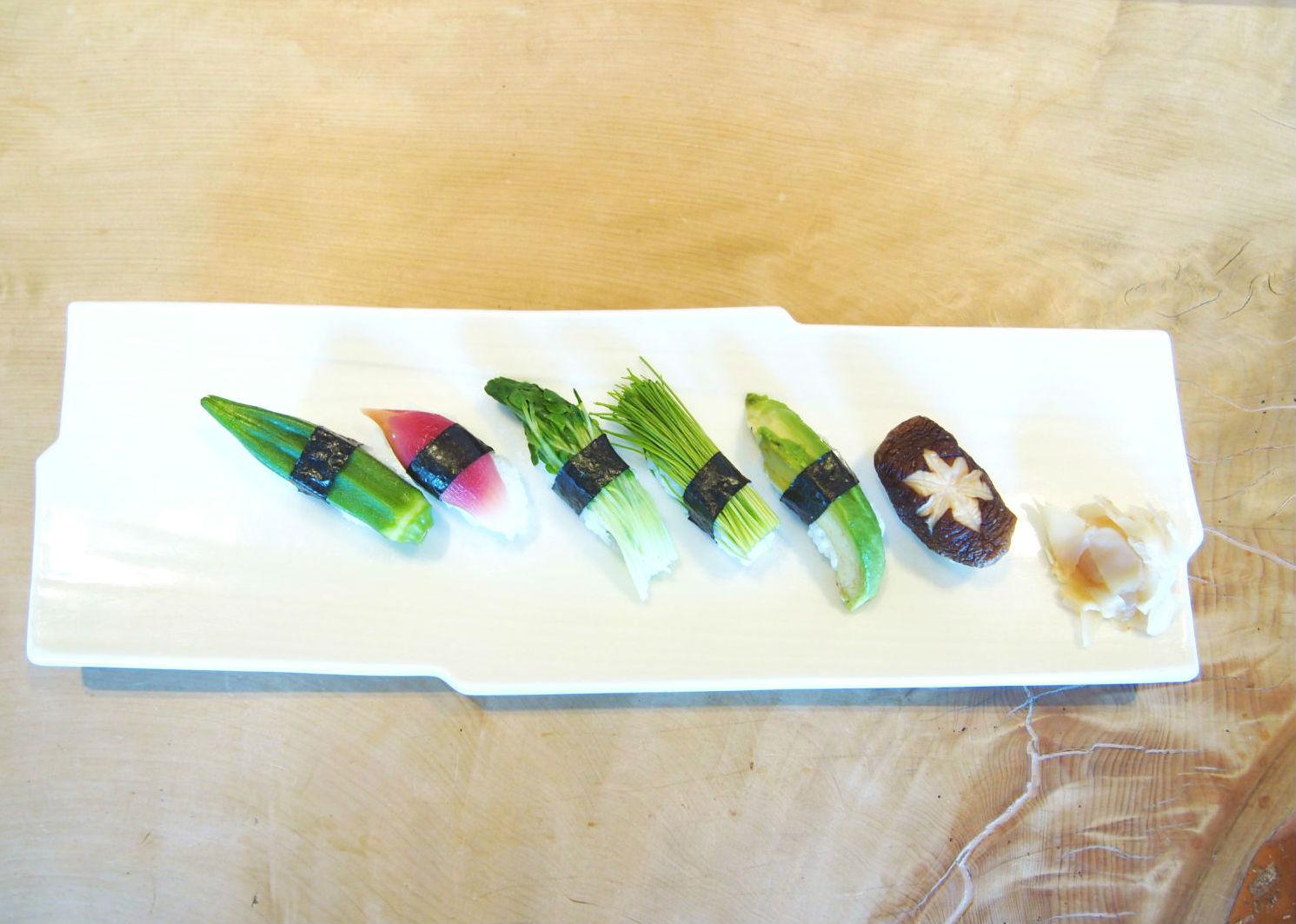 Vegan Sushi of Gonpachi Shiubya