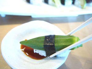 Vegan Sushi of Okra