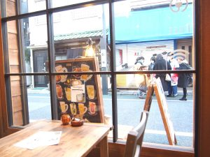 Seat by the window in Komainu Cafe