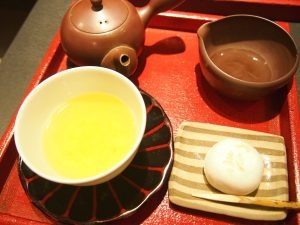 Green Tea and Manju