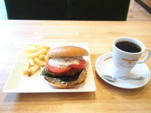 Vegan Burger and Coffee