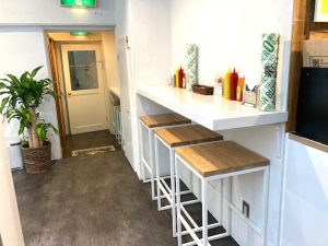 Counter Table near the entrance
