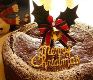 Christmas Cake Macrobiotic Gâteau au Chocolat (Natural Cake Fukuro))