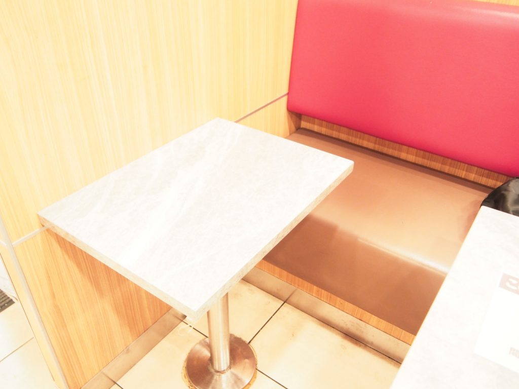 Table Seat of Burger King